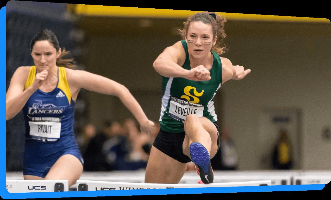 track field indoor sprint hurdles sherbrooke athletisme intérieur