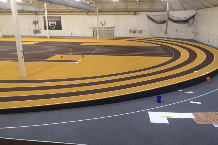 Indoor track at the Max Bell Centre