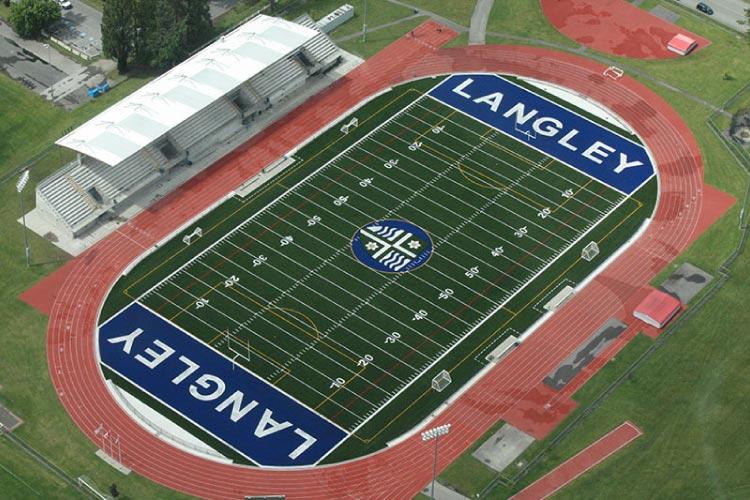 McLeod Stadium outdoor track (photo courtesy of Langley Rams)